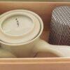 Kyusu-Teekannen-Set Uzu in Holzbox 410ml - Kanne + Dose 4