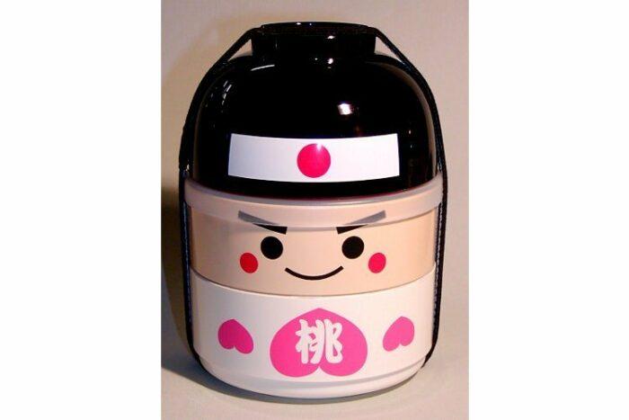 Kokeshi-Bento Momotaru 3 Schalen 1 Deckel 1 Band 1