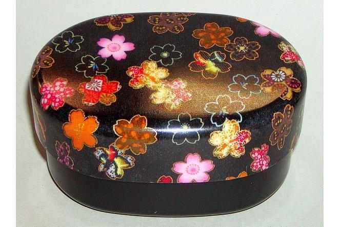 Bento-Box Hana kuro mit Stoffeinlage 1