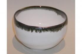 Teetasse grau mit Streifen 8