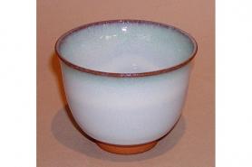 Teetasse grau mit Streifen 9