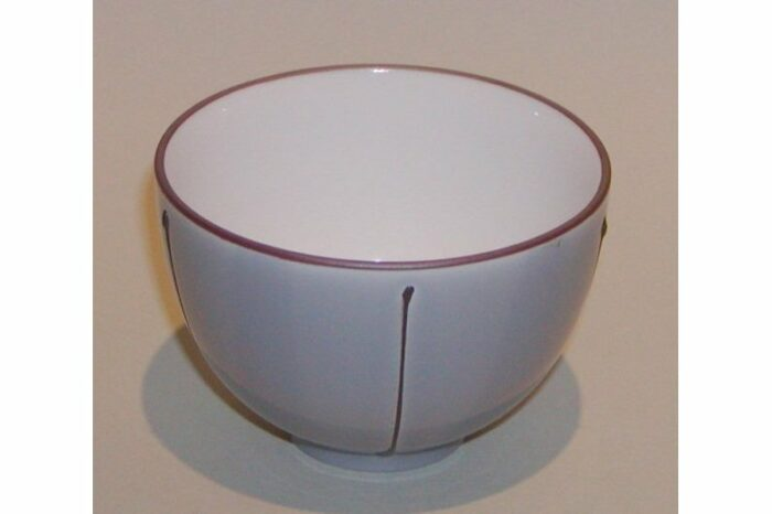 Teetasse grau mit Streifen 1
