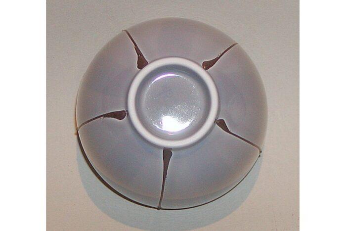 Teetasse grau mit Streifen 2
