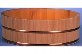 PROFI-Hangiri Sugi/Zedernholz mit Kupferreifen 60cm 6