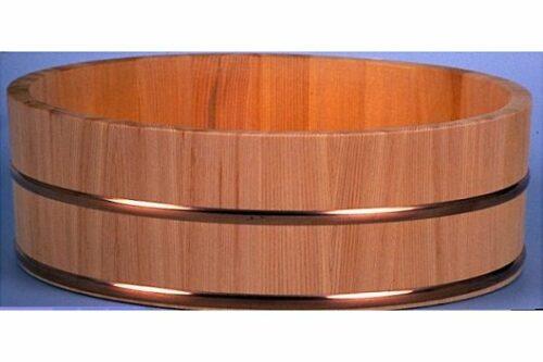 PROFI-Hangiri Sugi/Zedernholz mit Kupferreifen 72cm 5