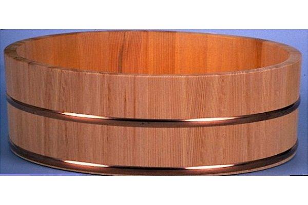 PROFI-Hangiri Sugi/Zedernholz mit Kupferreifen 60cm 1