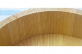 Profi-Hangiri Sugi /Zedernholz mit Kupferreifen 48 cm 6