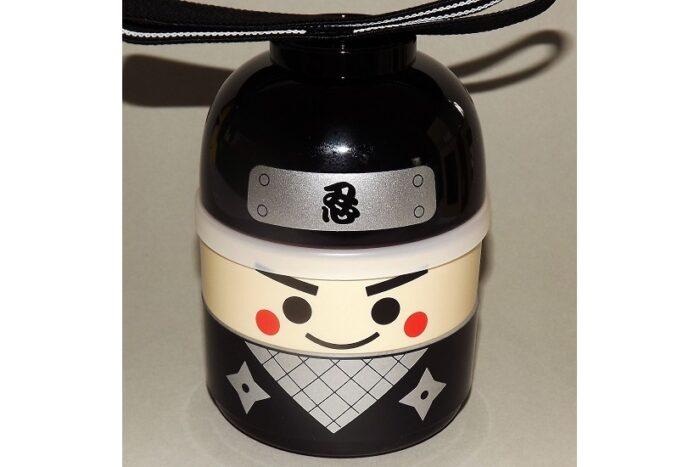 Kokeshi-Bento Ninja 3 Schalen 1 Deckel 1 Band 1
