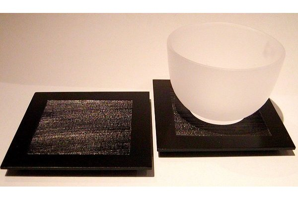 Zedernholz-Unikat schwarz 9 cm x 9 cm 1