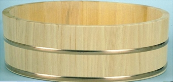 PROFI-Hangiri Hinokii/Zypressenholz mit Kupferreifen 60cm 8