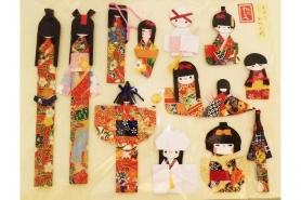 Chiyo-Origami Papier 8.5cm x 8.5cm + Lesezeichen 6