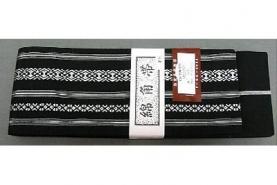 Kaku-Obi Classic schwarz-weiß 7