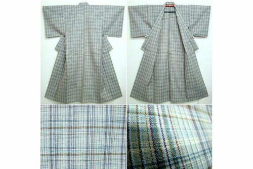 Woll-Kimono Madras antik 5