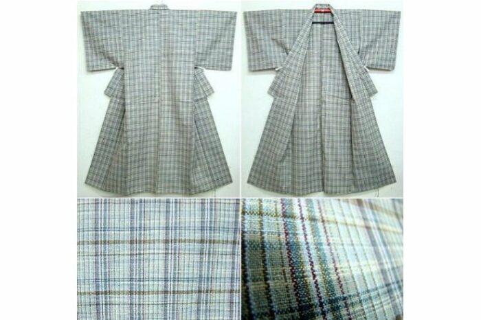 Woll-Kimono Madras antik 1