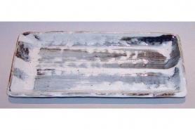 Platte / Teller grau-weiß 7