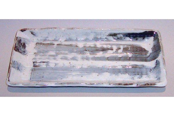Platte / Teller grau-weiß 1