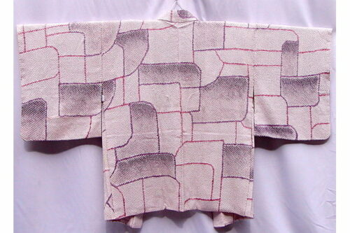 Antik Seiden-Haori Purple Geometric 19