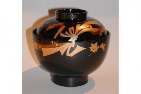 Lack Deckel-Bowl akakuro 12cm 8