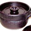 Reis-Kochtopf / Servierschüssel Keramik kuro (Asien) 2