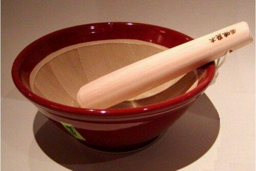 Suribachi 22 cm mit Surikogi 5
