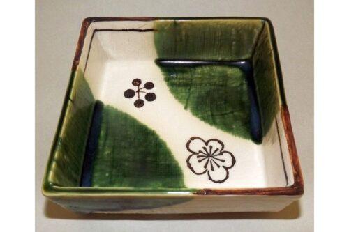 Keramik-Schälchen Oribe 11cm x 11cm x 4cm 10
