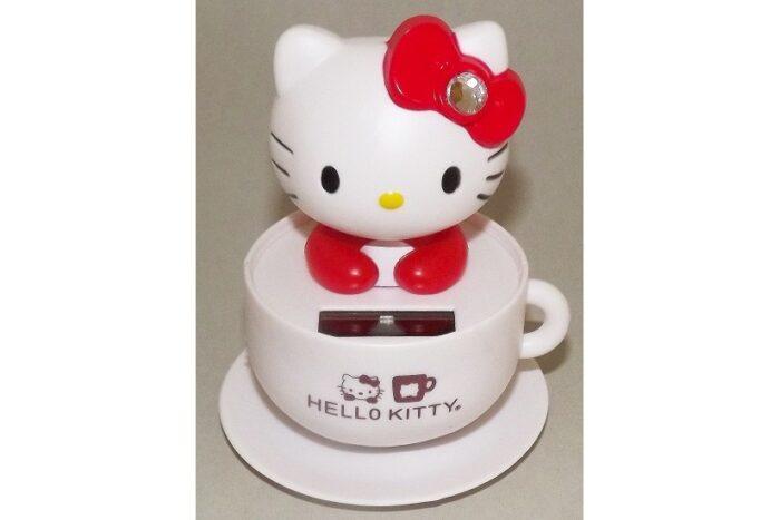 Wackelkopf Hello Kitty Tasse weiß (Asien) 1