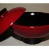 Lack Deckel-Bowl akakuro 12cm 2
