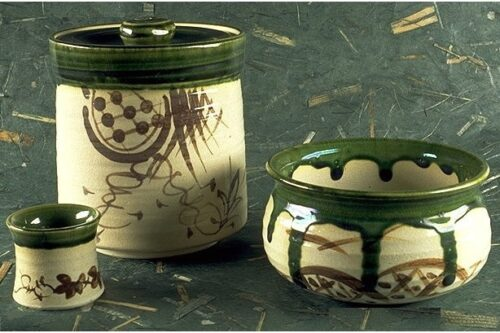 Keramik-Set Oribe 3 tlg. 5