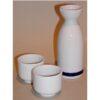 Keramik weiß/blau Tokkuri 140 ml 2