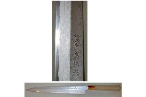 Yanagiba Tanmon Hideo Kitaoka 270mm LINKSSCHLIFF    # Gebraucht # 8