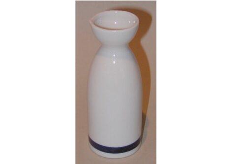 Keramik weiß/blau Tokkuri 140 ml 23