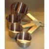 Mess-Cup-Set 4tlg. + Mess-Löffel-Set 4tlg. Edelstahl (GB) 2