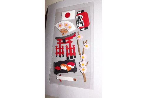 Geschenk-Gutschein Stickerkarte Nippon taupe 3