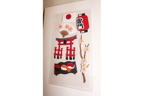 Geschenk-Gutschein Stickerkarte Nippon weiß 10