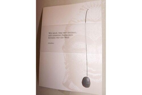Geschenk-Gutschein Steinkarte Gedankenkraft 14