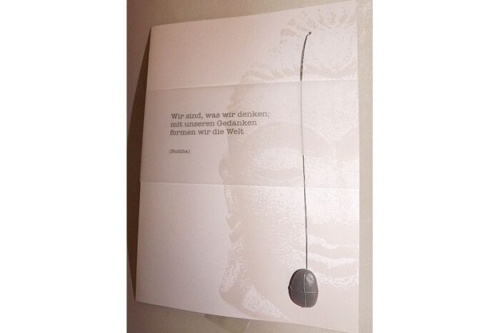 Geschenk-Gutschein Steinkarte Gedankenkraft 1