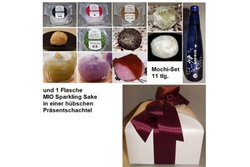 Daifuku Mochi Präsent-Paket mit Sparkling Sake 6