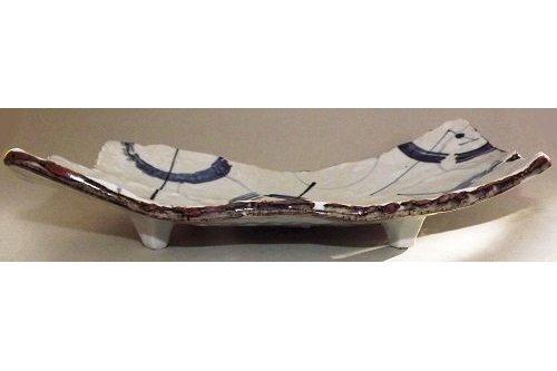 Keramik Platte/Teller Awase blau-weiß 4