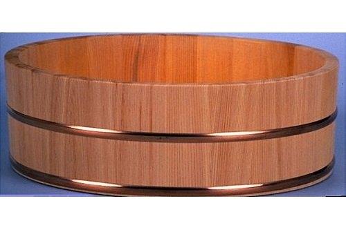 Hangiri Sugi/Zedernholz 39 cm High Quality mit Kupferreifen 2