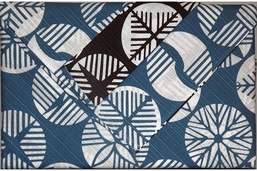 Furoshiki Maru blue/chocolate 104cm 10