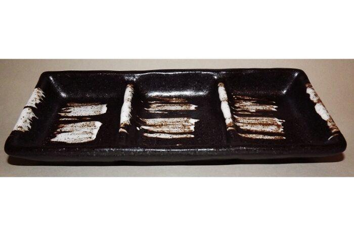 3-tlg. Dip-/Beilagen-Teller Kuro-Shiro 1