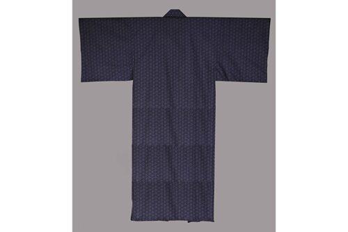 Baumwoll-Kimono Asanoha aoi GEFÜTTERT 8