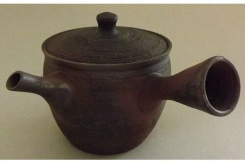 Teekanne Kyusu schwarzbraun geschabt 200 ml 12