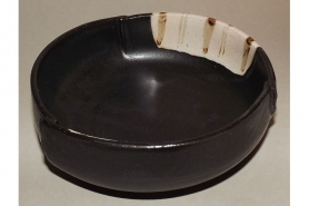 Keramik-Schale Oribe kuro 7