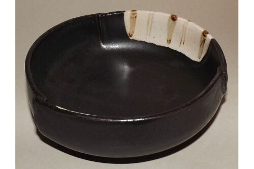 Keramik-Schale Oribe kuro 8
