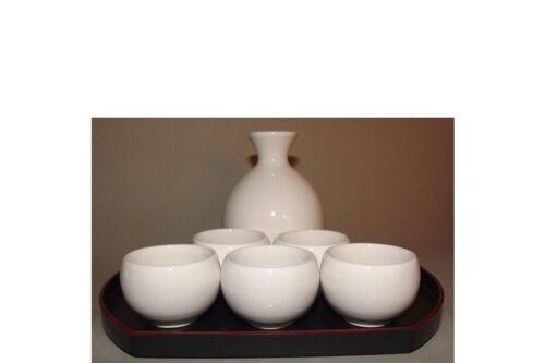 Sake-Servier-Set Chikyu Shiro komplett 12