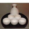 Sake-Servier-Set Chikyu Shiro komplett 2