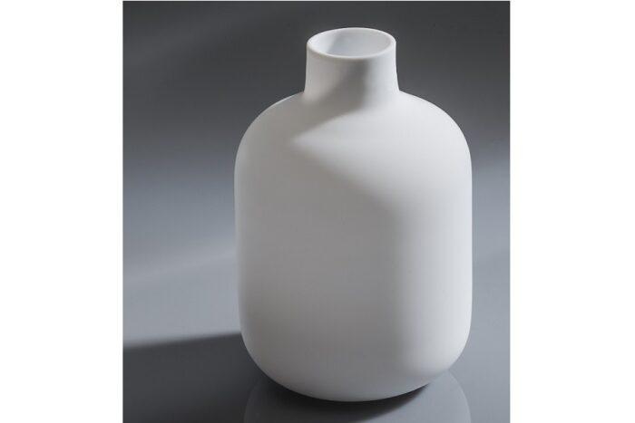 Tokkuri Glas weiß feinstens satiniert 430ml 1