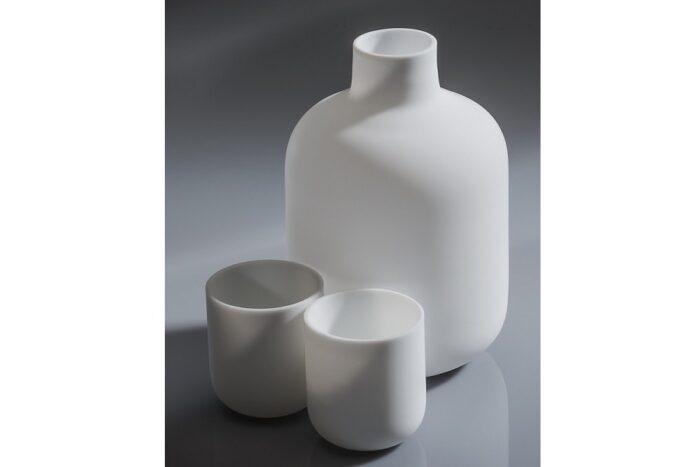 Sake-Set 5 tlg. Glas weiß feinstens satiniert 1