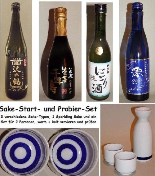 Sake-Start-Set einfach 7 tlg. im Präsentkarton 8